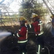 Incendio Bahía Rangue.